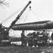 Amerikai Quick-Way E daru Coleman G-55A alvázon a Ruhr-folyónál