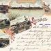 1898 - Pohľady na Lučenec, Masarykova ulica,  Prónayho kašti