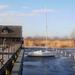 Befagyott vitorlás a Fertő tón