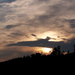 égi fények, szürkés naplemente
