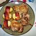 ennivaló, grilles csirkecomb baconos burgonyával